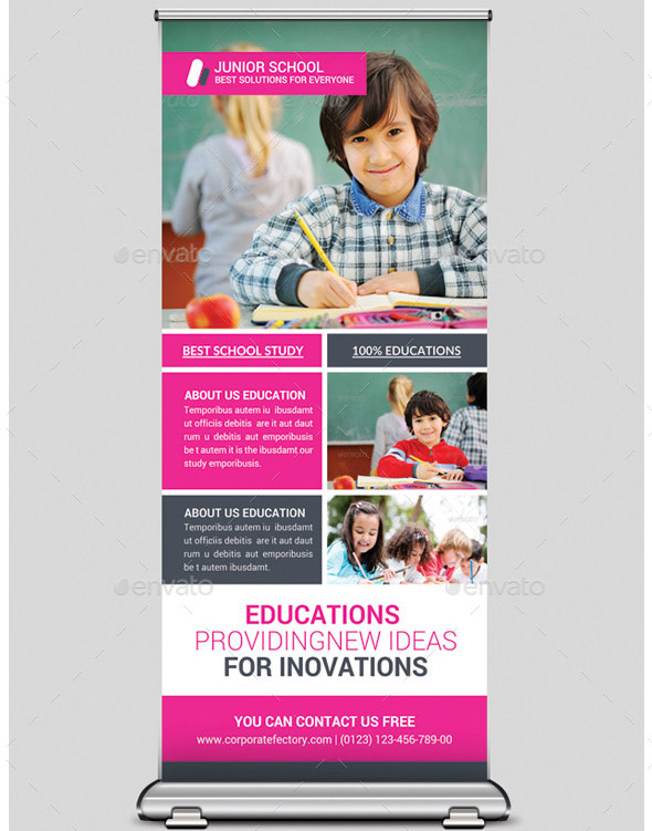 junior-school-education-rollup-banners