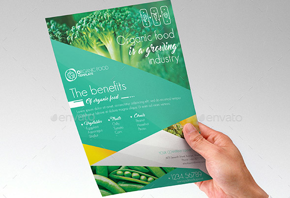 organic-food-flyer-template