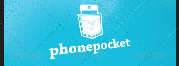 Phone Pocket Logo Template