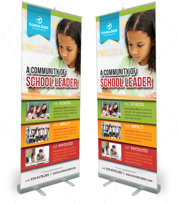 school-education-roll-up-banner