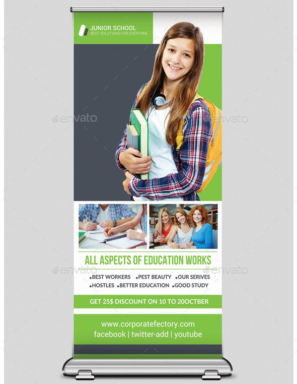 school-education-rollup-banners