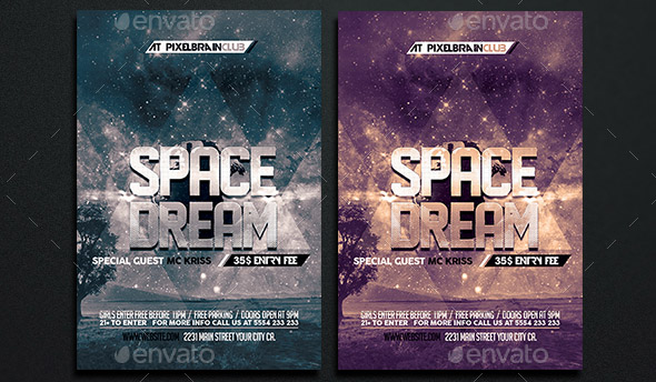 Space Dream Flyer Template