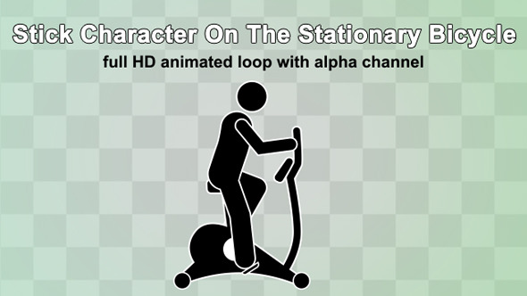 stick-character-on-the-stationary-bicycle