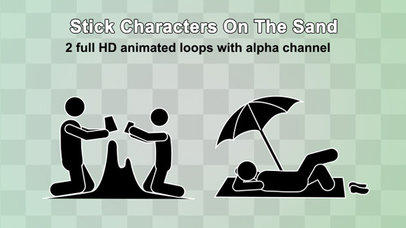 stick-characters-on-the-sand