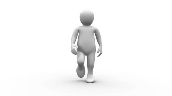 white-human-character-walking