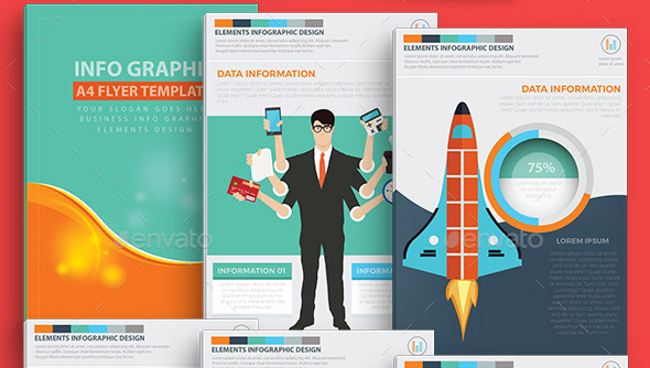 business-infographics-a4-template-design