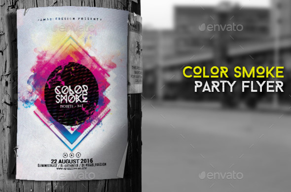 color-smoke-flyer-poster