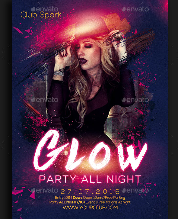 glow-party-flyer