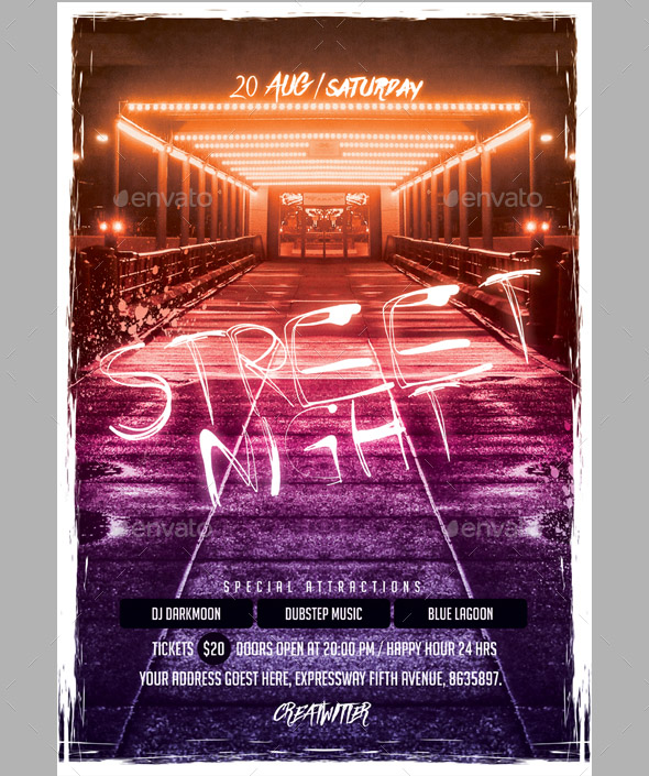 street-night-flyer