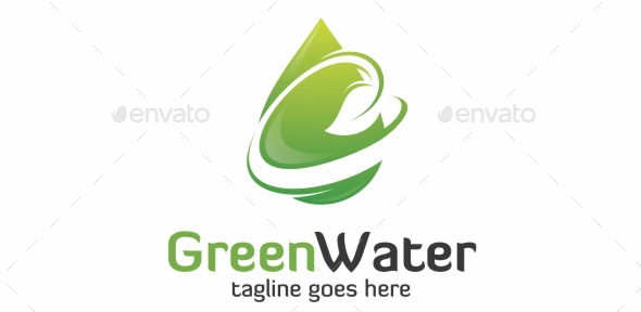 green-water-logo-template