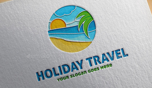 holiday-travel-logo-template