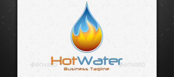 hot-water-water-drop-logo
