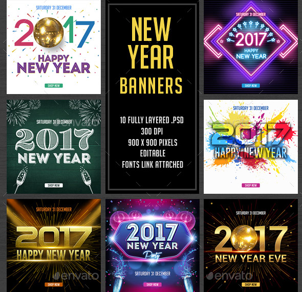new-year-banners