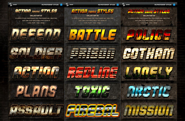 action-game-styles-bundle-60-text-effects