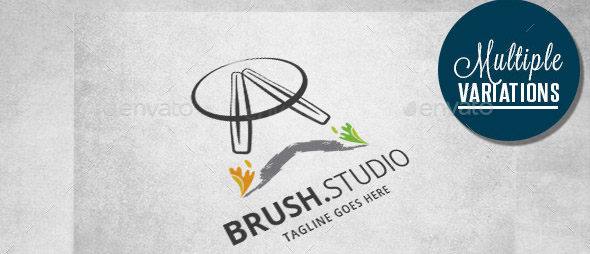 art-brushes-logo-template