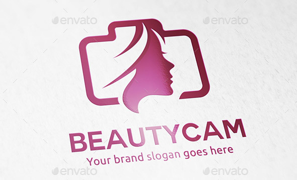 beauty-woman-camera-logo
