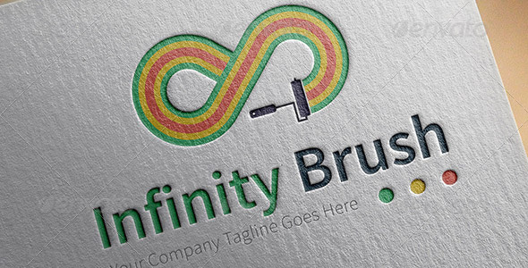 infinity-brush-logo-template
