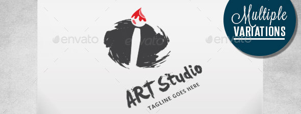 original-art-brush-logo-template