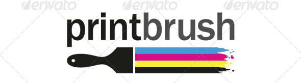 print-brush-logo-template