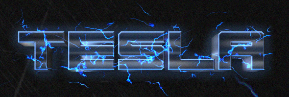 tesla-lightning-text-effect