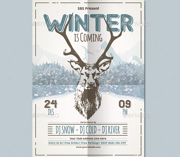 Nice Winter Flyer Templates  Design Freebies