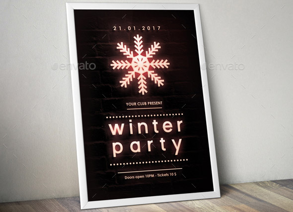 winter-party-neon-poster