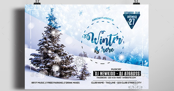 winter-partyflyer