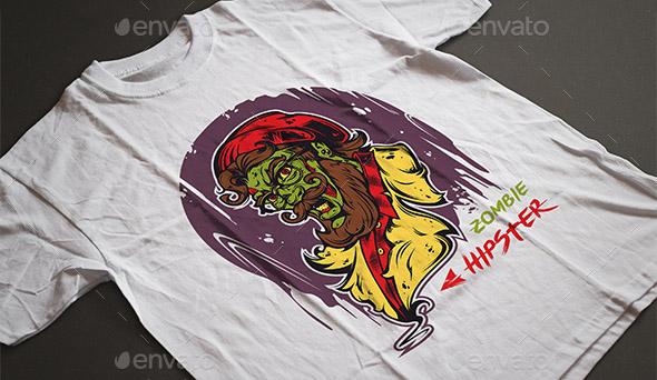 zombie-hipster-t-shirt