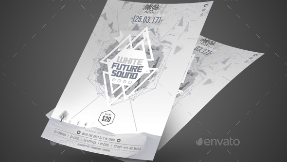 Cool Geometric Flyer Templates  Design Freebies