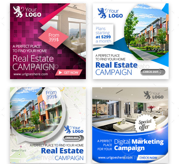 18 Nice Real Estate Web Banner PSDs – Design Freebies