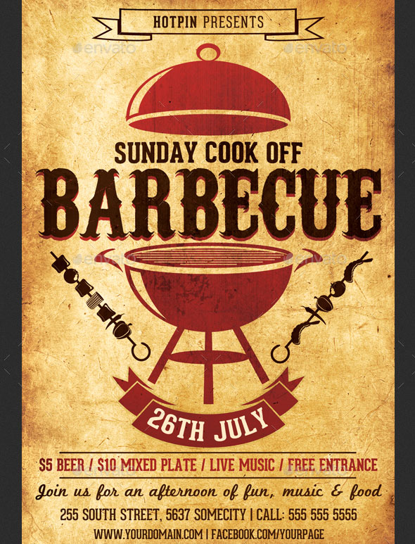 Barbeque Flyer Templates  BesikEightyCo