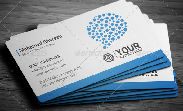 24 Nice Social Media Business Card PSDs u2013 Design Freebies