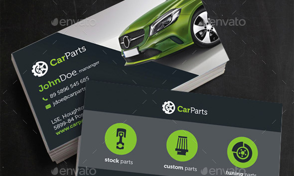 21 cool carservice business card design templates design freebies car parts businesscard template reheart Choice Image