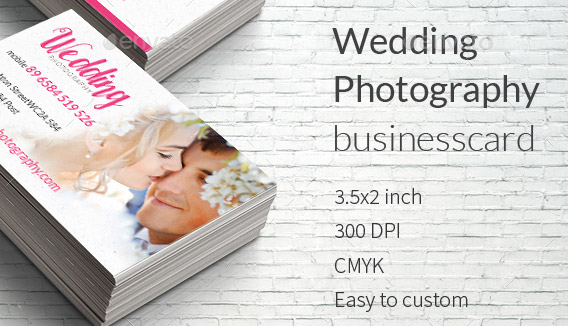 20 Cool Wedding Photography Business Card PSDs – Design Freebies
