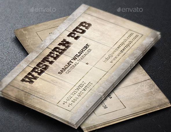 17 great wood business card templates design freebies western pub business card template colourmoves