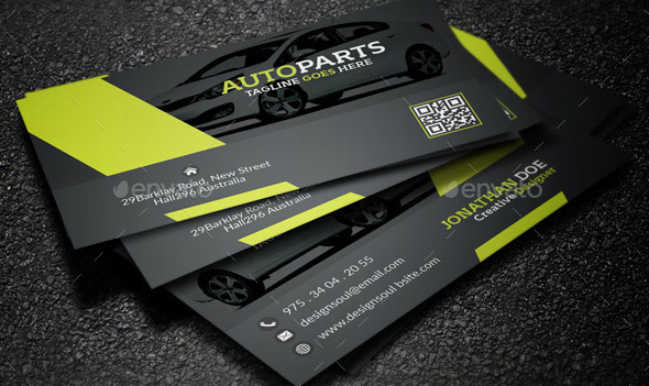 20 cool business card templates for auto services design freebies auto services business card templates wajeb Choice Image