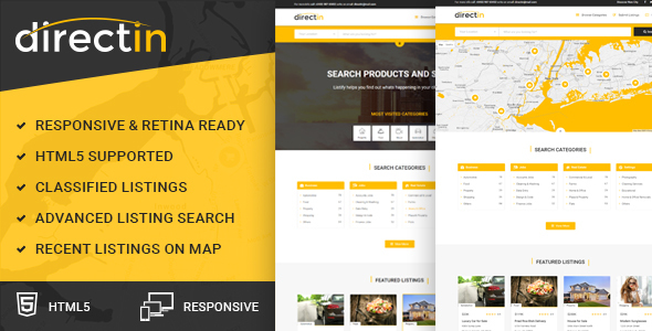 20 html templates for directory classified ads design freebies directin classified ads listing template for directory realty property and yellow pages maxwellsz