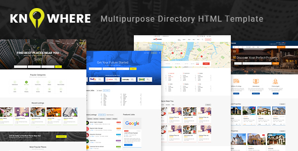 20 html templates for directory classified ads design freebies knowhere multipurpose directory html template maxwellsz