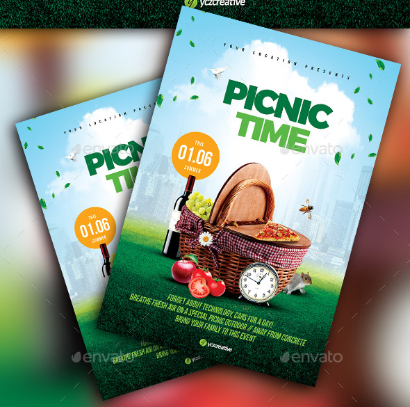 23 Beautiful Picnic Flyer Templates – Design Freebies