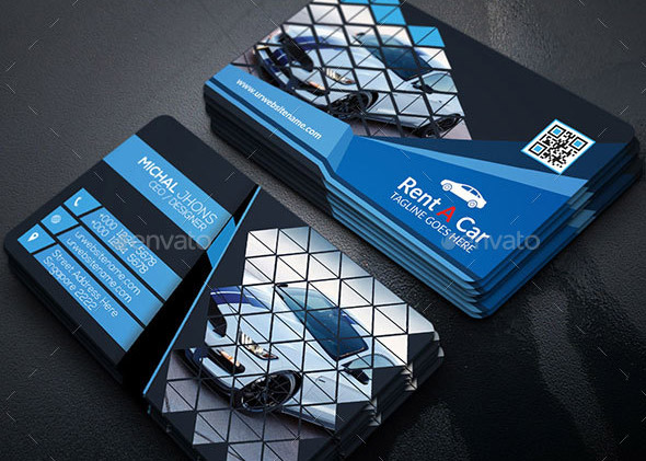 20 cool business card templates for auto services  u2013 design