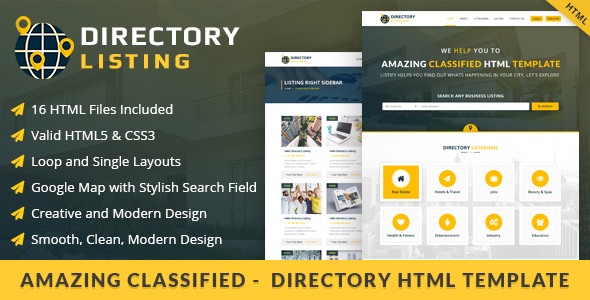 20 HTML Templates For Directory & Classified Ads – Design