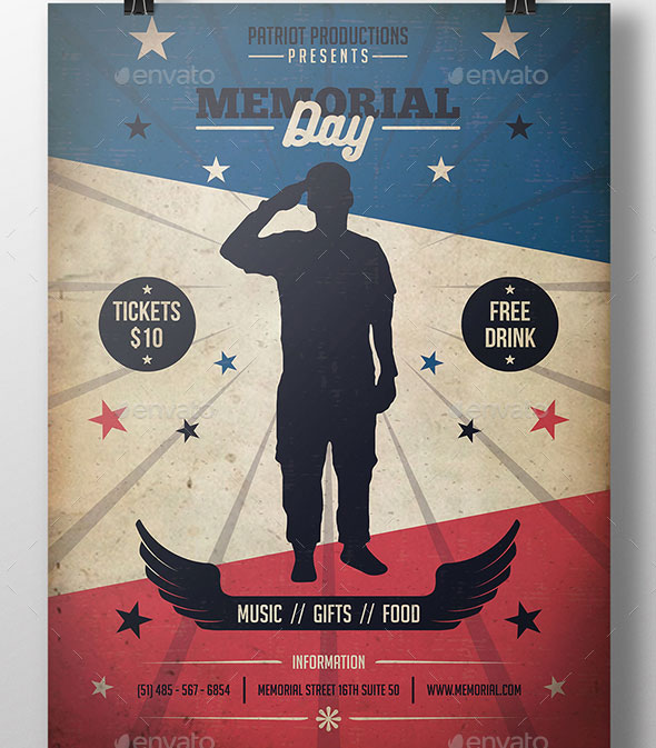 19 Nice Memorial Day Poster & Flyer Templates