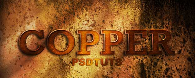 How to Create a Copper Photoshop Text Effects
