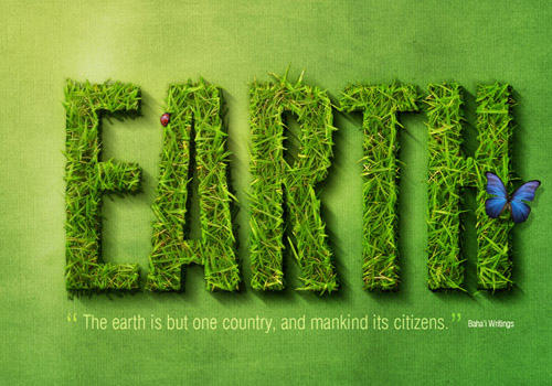 Create a Spectacular Grass Text Effect